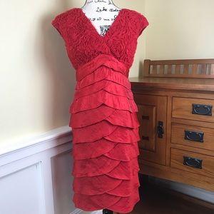 Adrianna Papell Red Sleeveless Dress